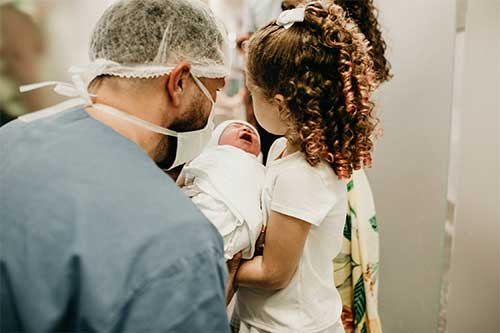 naissance d'un bébé