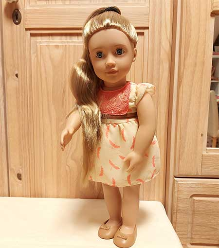 poupée blonde grande taille à coiffer