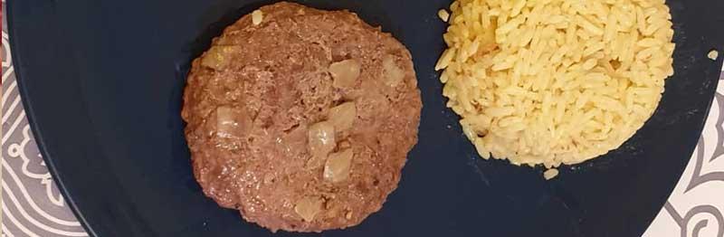 steak haché plat